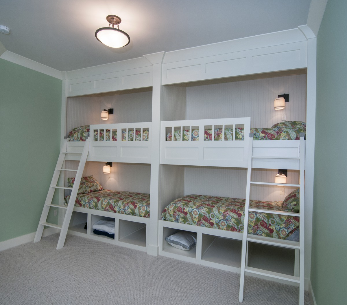 Custom loft beds in the Gilchrist Plan #734-D