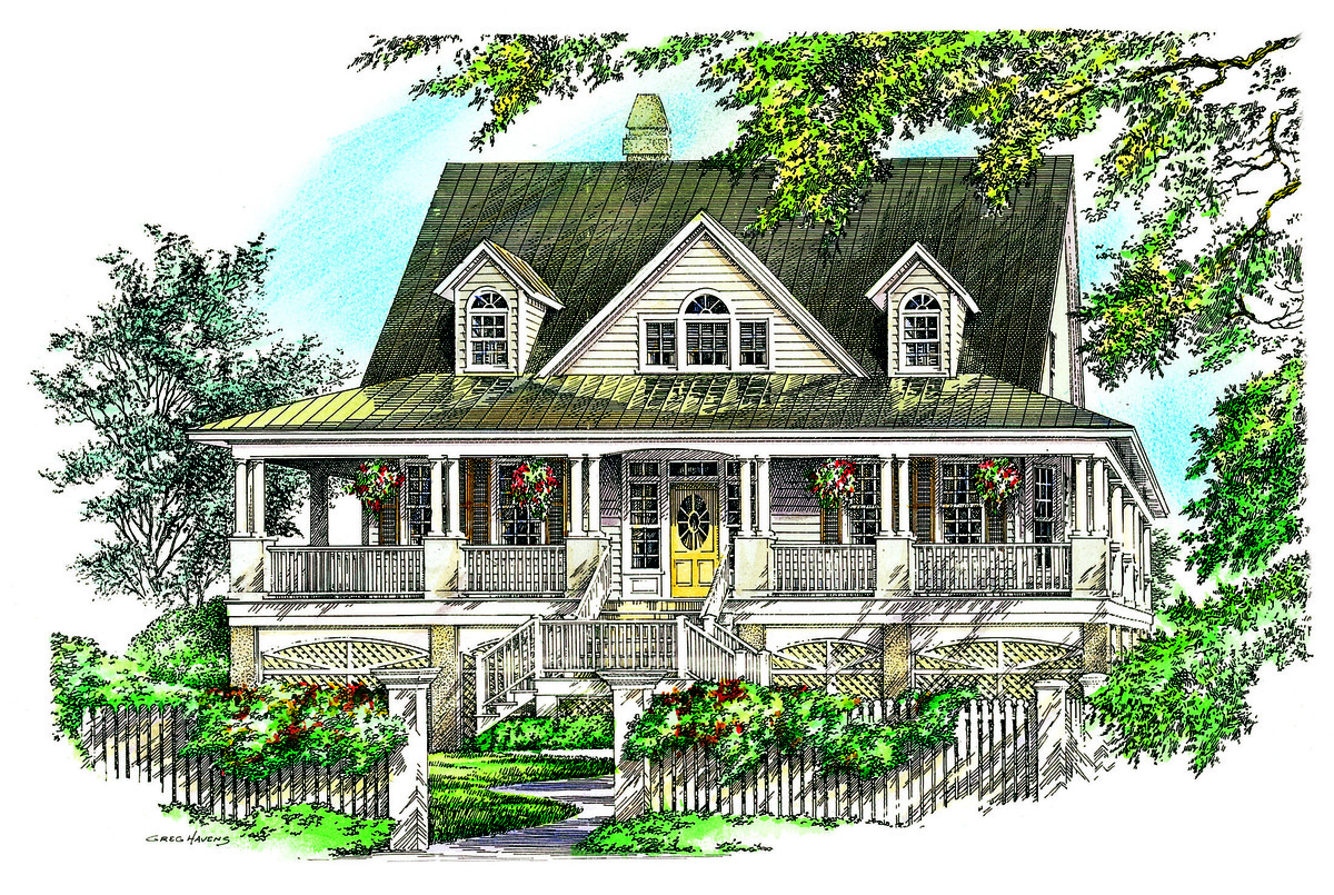 Low country house plans home floor plans donald a Low country farmhouse plans