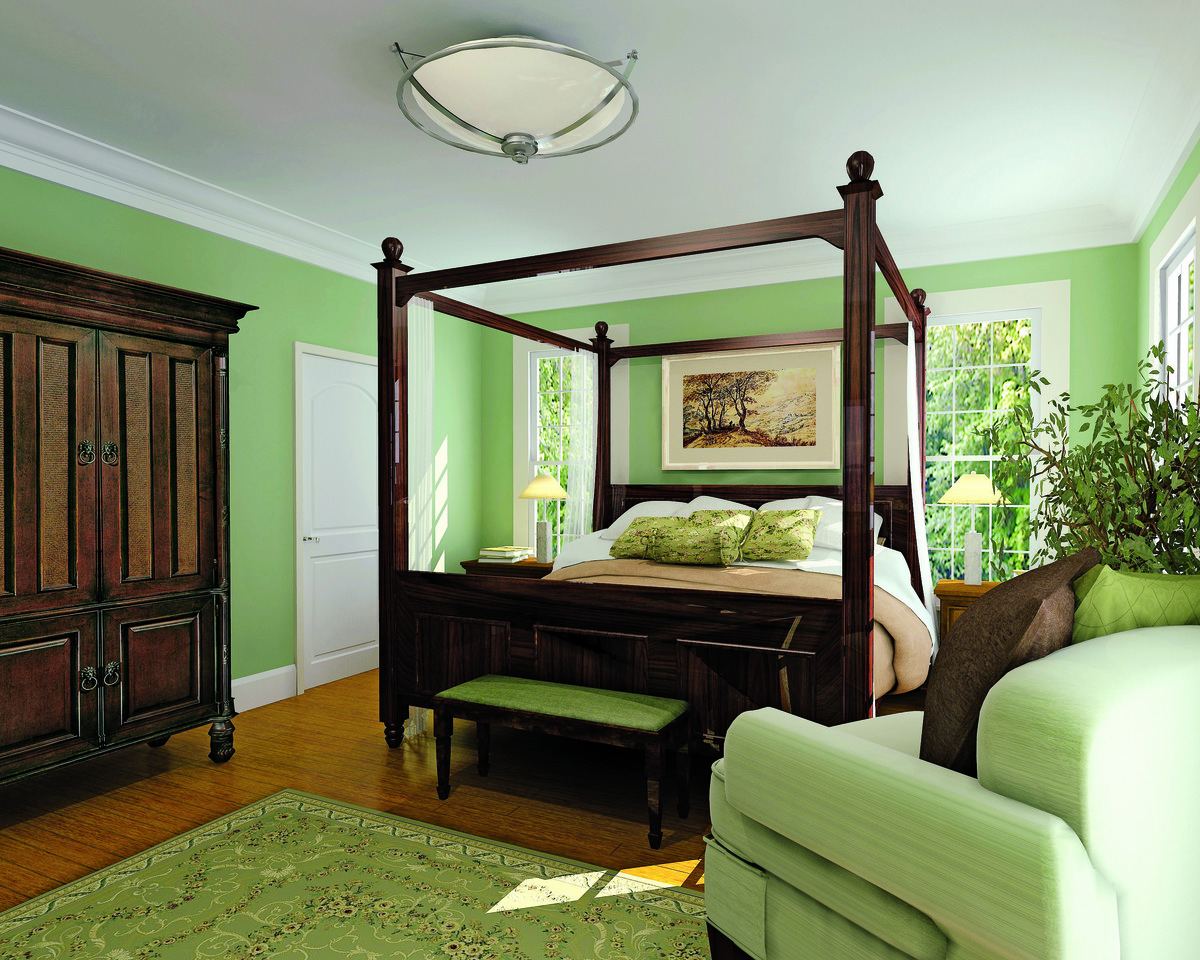 Master Bedroom of The Hollyhock - House Plan Number 864