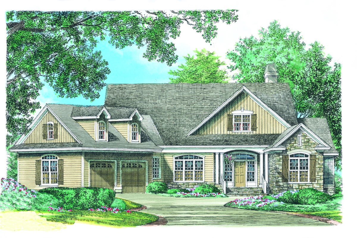 Front Rendering of The Adelaide - House Plan Number 866-D