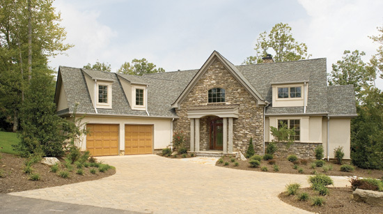 Front Exterior of The Rockledge House Plan 875-D: Over 2500 sq. ft.