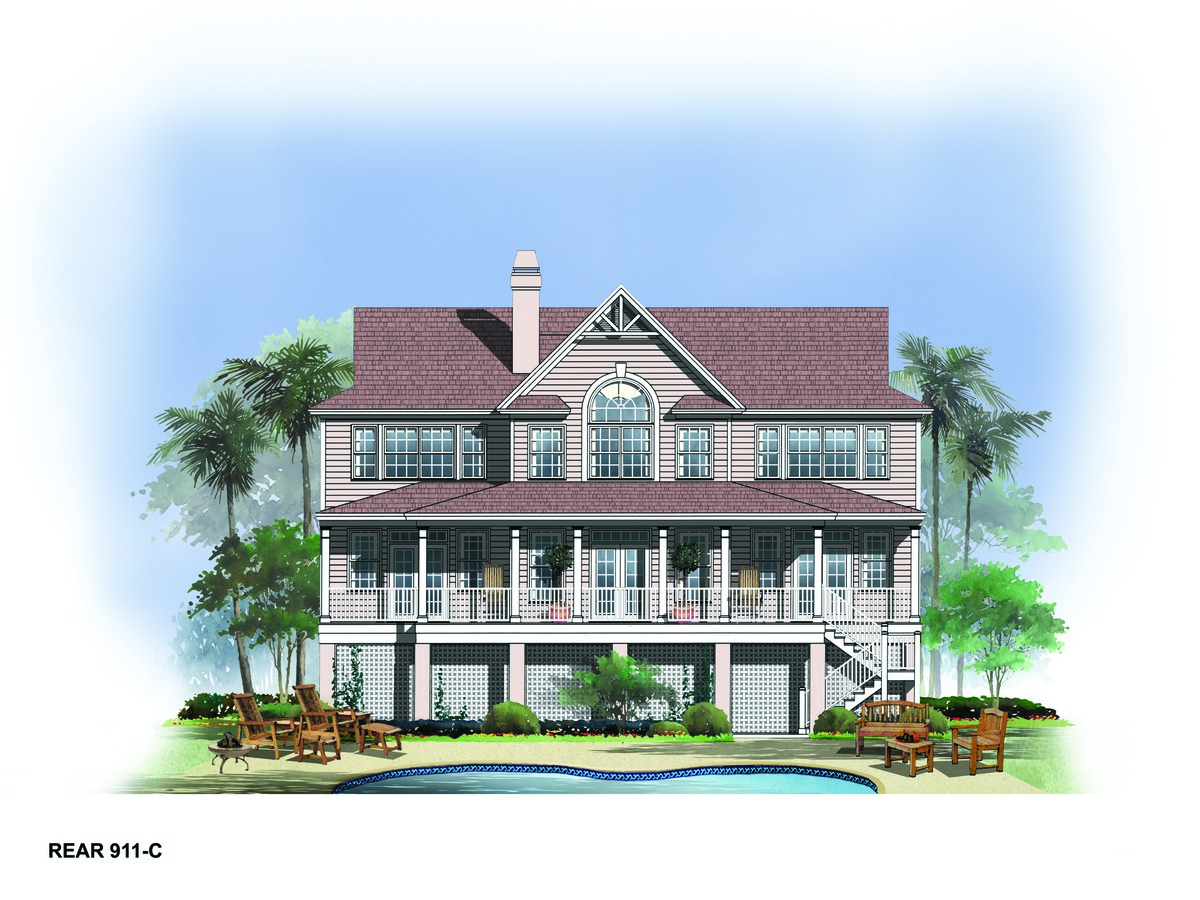 Waterfront home plans luxury house floor plans donald a for Luxury waterfront house plans