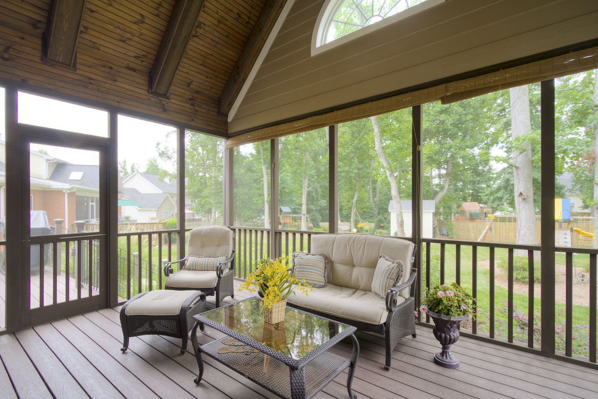 Screened Porch of The Ivy Creek - House Plan Number 921
