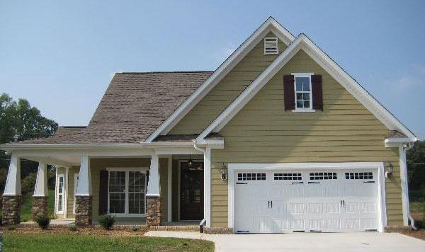 Front Exterior of The Jonesboro - Home Plan 983